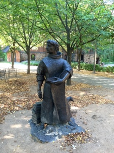 Statue of St. Benedict at The Gathering Place, Sacred Heart Chapel, College of Saint Benedict