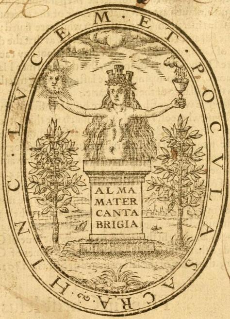 Legate_John,_Alma_Mater_Cantabrigia_Emblem_1600_(Golden_Chaine_print)