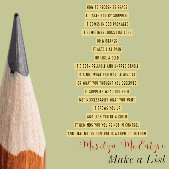 looking for a new tool for reflection make a list vocation matters