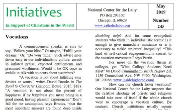 Image of NCL's Initiatives newsletter